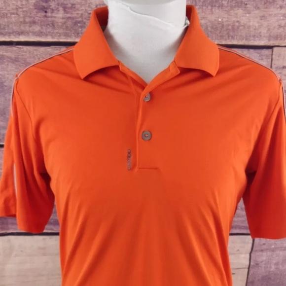 c3943ec9 Adidas Adizero DriFit Orange Golf Polo Shirt Small